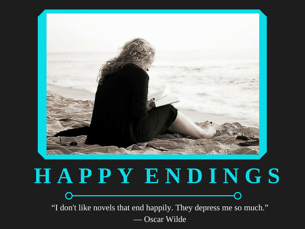 Depressing Book Quote Posters - Happy Endings