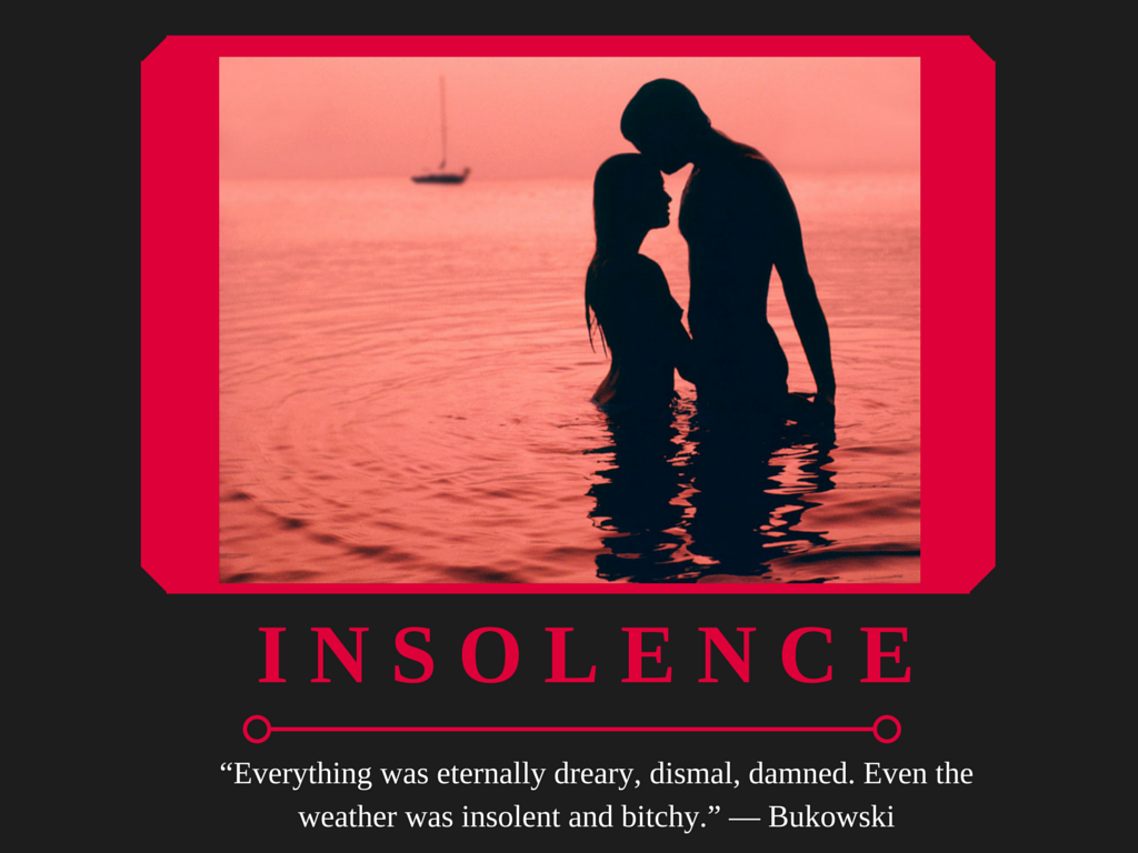 Depressing Book Quote Posters - Insolence