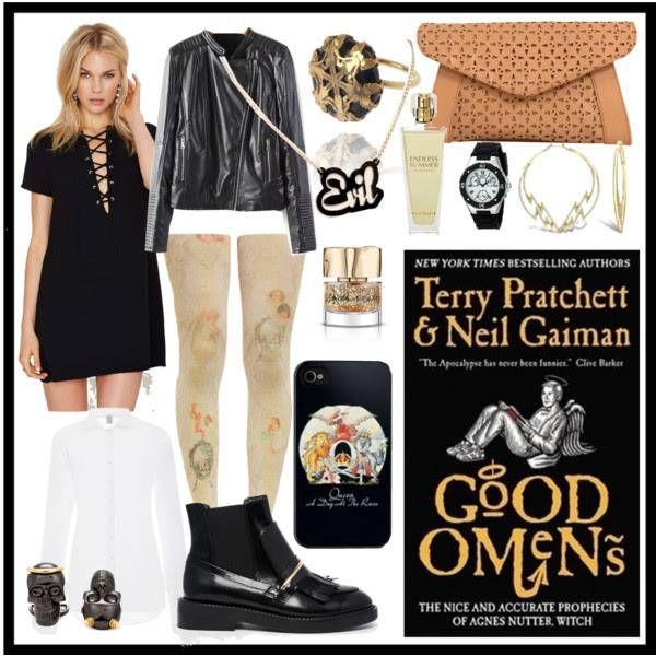 Good Omens by Terry Patchett & Neil Gaiman (Black Cover)