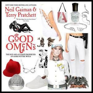 Good Omens by Terry Pratchett & Neil Gaiman (White Cover)