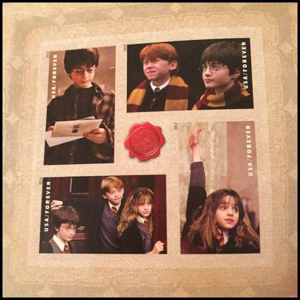 Harry Potter Stamps for my wedding invitations - the charming children.