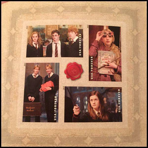 Harry Potter Stamps for my wedding invitations - the teens