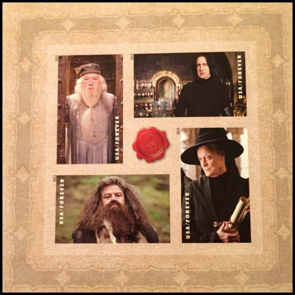 Harry Potter Stamps for my wedding invitations - the venerable adults.
