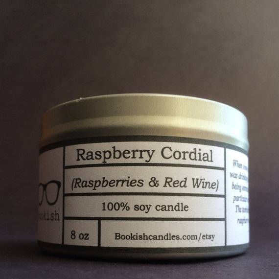 raspberry cordial candle