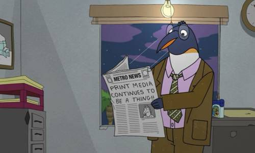 Bojack Horseman Bookish Penguin Print Media