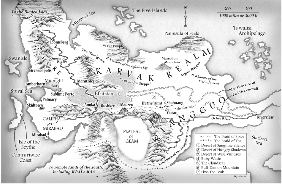 Making maps for books 2 cartographers tell us how its done the final map from chris willrichs the silk map by rhys davies gumiabroncs Image collections