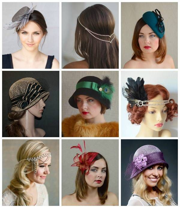 A selection of wonderful head wear; any one of these would be perfect for a Phryne Fisher Halloween costume.