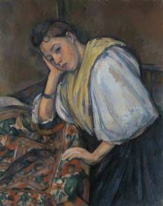 Paul Cézanne Young Italian Woman at a Table