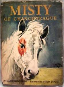 Misty of Chincoteague vintage book jacket
