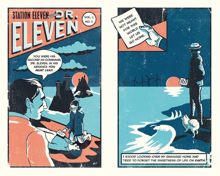 Station Eleven comic designed by Nathan Burton