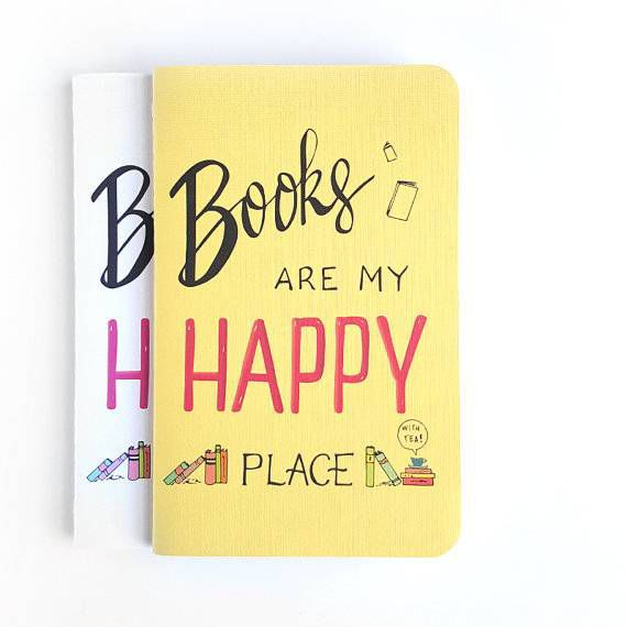 books are my happy place notebooks