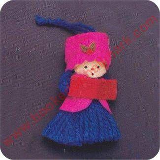 1973 Blue Girl Yarn Hallmark Ornament
