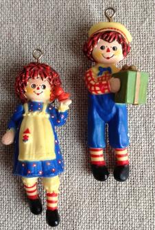 1975 Raggedy Ann and Andy Hallmark Ornament