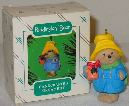 1986 Paddington Bear Hallmark Ornament