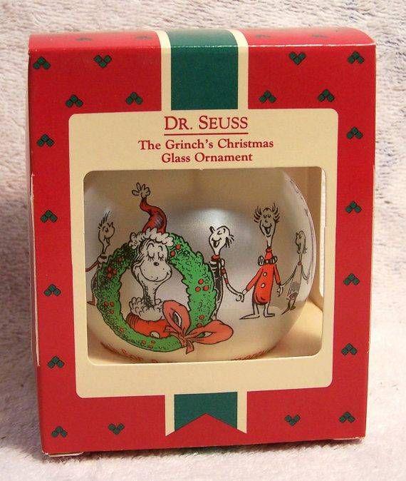 1987 Dr Seuss The Grinch's Christmas Glass Ornament Hallmark