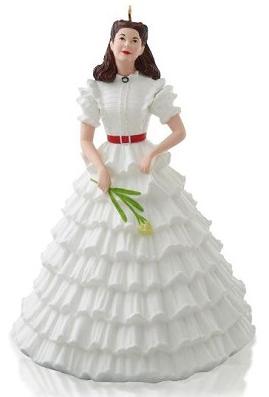 2014 Scarlett's White Dress Hallmark Ornament