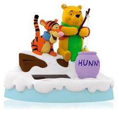 Disney Winnie the Pooh and Tigger Ice Fishin' Friends Ornament