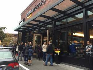 Amazon bookstore line