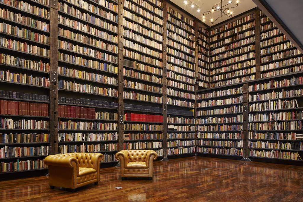 Stony Island Arts Bank bookshelves