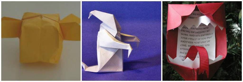 HP Origami Ornaments