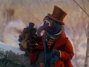 The Muppet Christmas Carol Gonzo comforts Rizzo