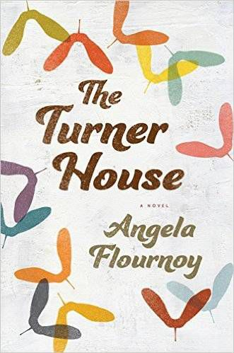 The Turner House by Angela Flournoy, a white cover with several pastel-colored leaves on it
