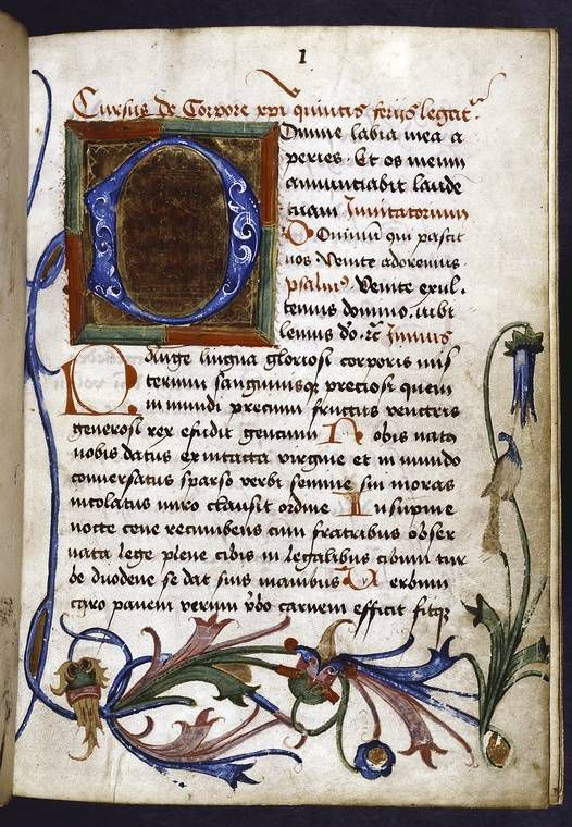 A German illuminated manuscript from 1476.