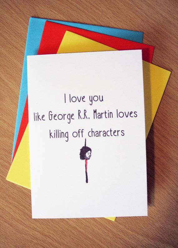 Funny Game Of Thrones Love Card By EHdesignStore Via Etsy
