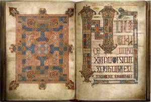 Carpet and incipit pages of the Gospel of Matthew.