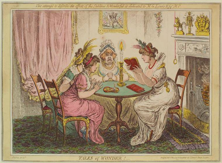 Tales of wonder! - a caricature by James Gillray from 1802.