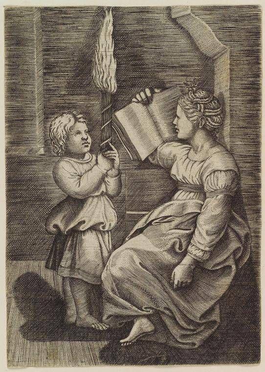 A Sibyl Reading - Raphael