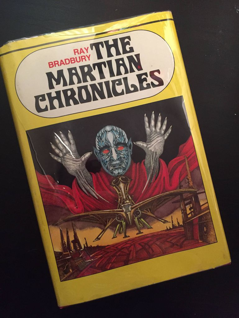 A vintage edition of THE MARTIAN CHRONICLES.