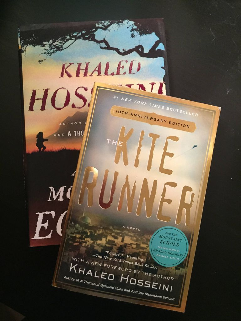Signed copies of THE KITE RUNNER and AND THE MOUNTAINS ECHOED .