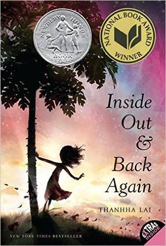 Inside Out and Back Again - livros em verso da capa de Thanhha Lai