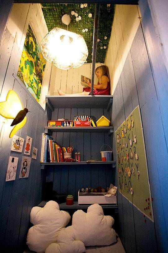 Kids Reading Nook Closet