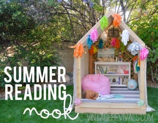 Kids Reading Nook Outside