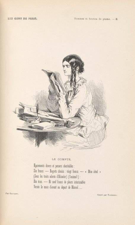 """""""Le Compte"""" - Paul Gavarni"""