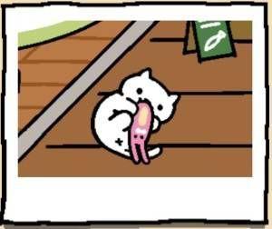 Neko Atsume Cat Snowball