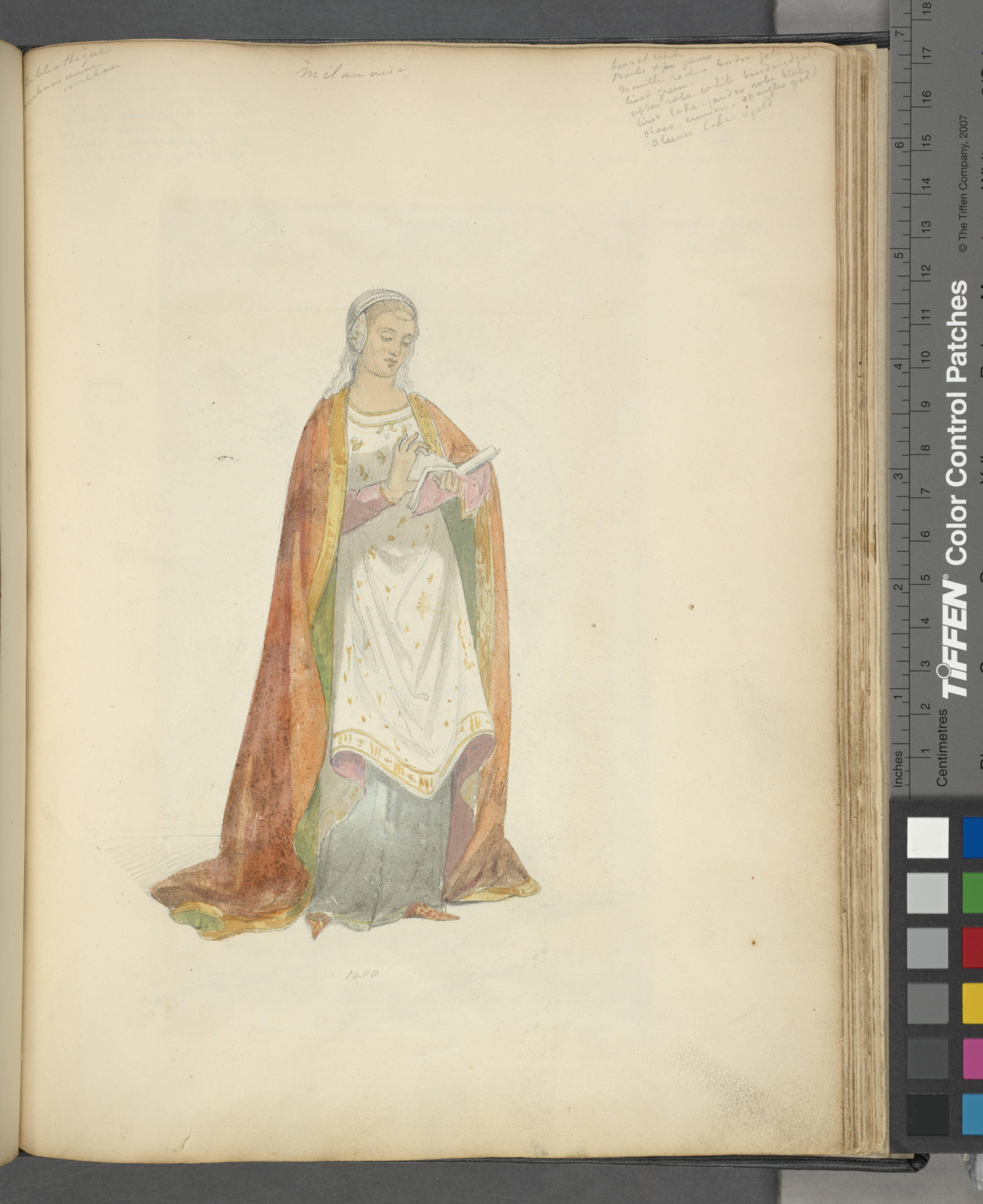 [Woman reading a book,] Milanaise, 1400 - Stewart Watson