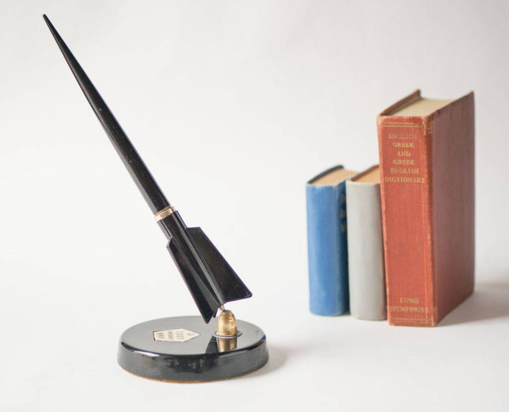 soviet era rocket pen and stand | 10 Luxurious Pens That Will Inspire You to Write
