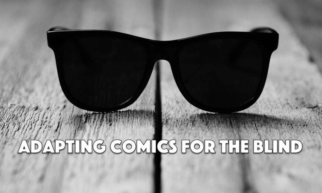 Comics for the Blind. Stock image.