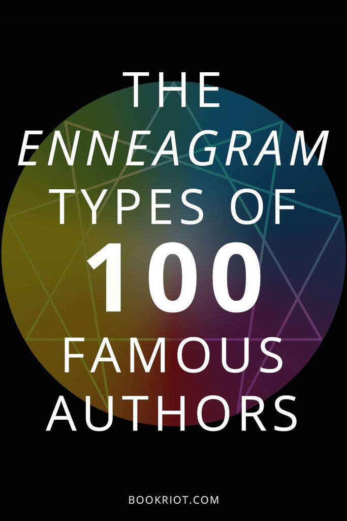 The Enneagram types of 100 Authors