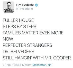 Tim Federle Fuller House Tweet