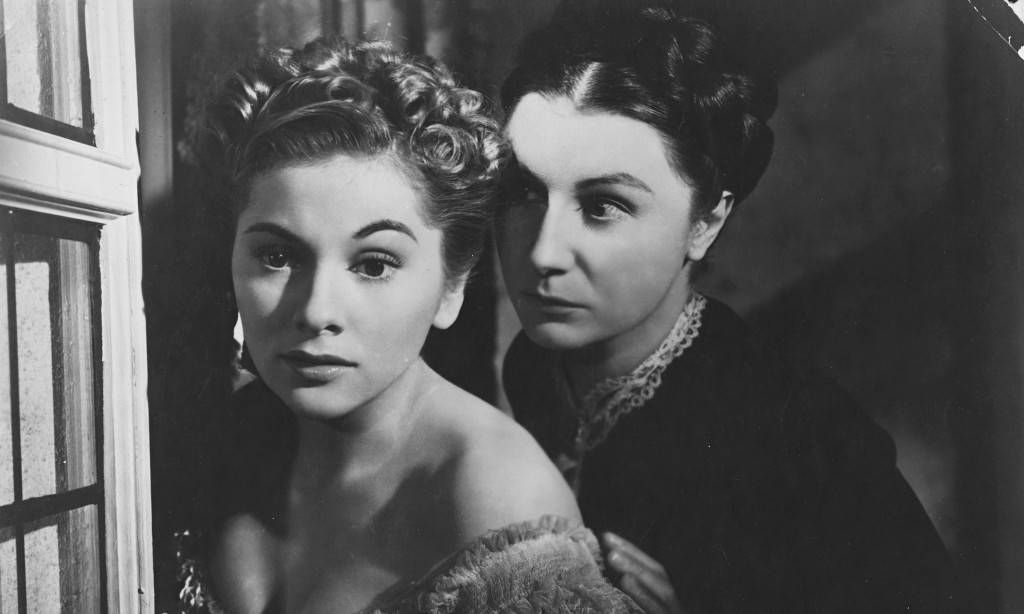 Judith Anderson as Mrs Danvers in Hitchcock's screen adaptation of Rebecca, by Daphne du Maurier.