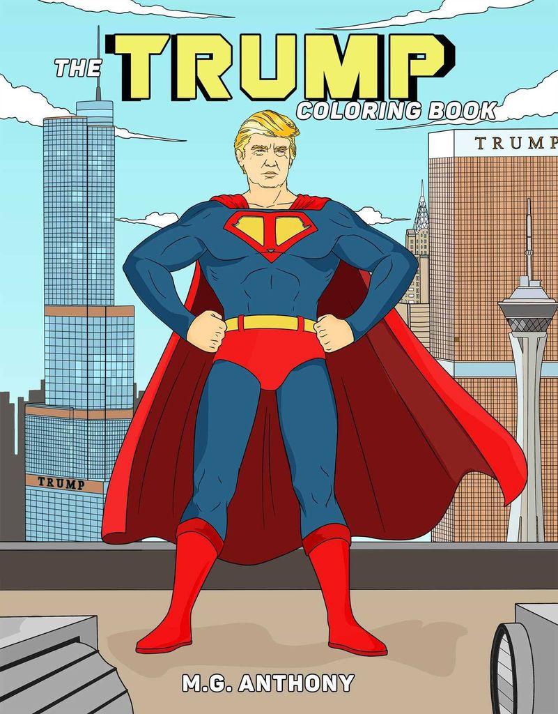 superhero donald trump coloring book