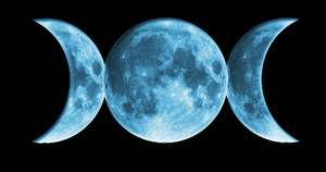 a moon in three phases