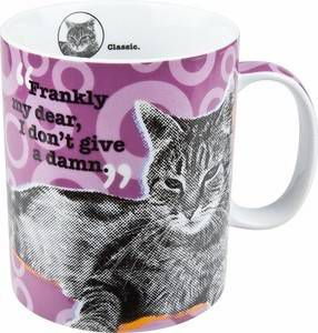 """Frankly, My Dear"" Cat Mug"