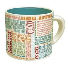 Famous first lines mug
