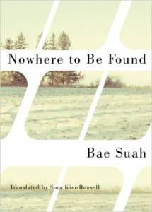 Nowhere to Be Found by Bae Such. Dark books in translation