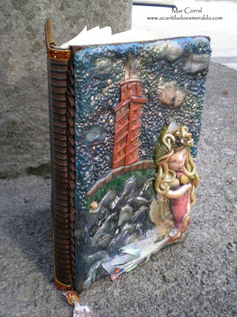 Polymer Clay Mermaid Journal by Mar Corral